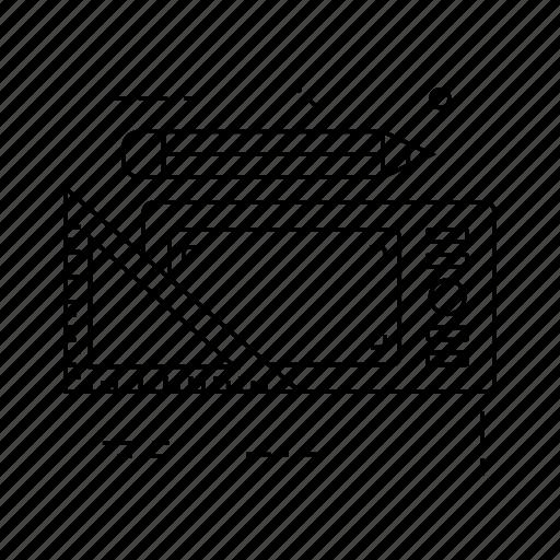 design, draw, edit, ruler icon