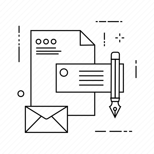 document, edit, file, message icon