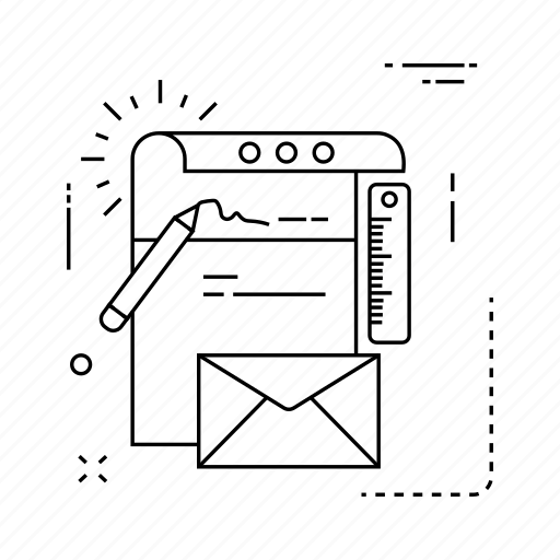 document, flyer, message, receipt icon