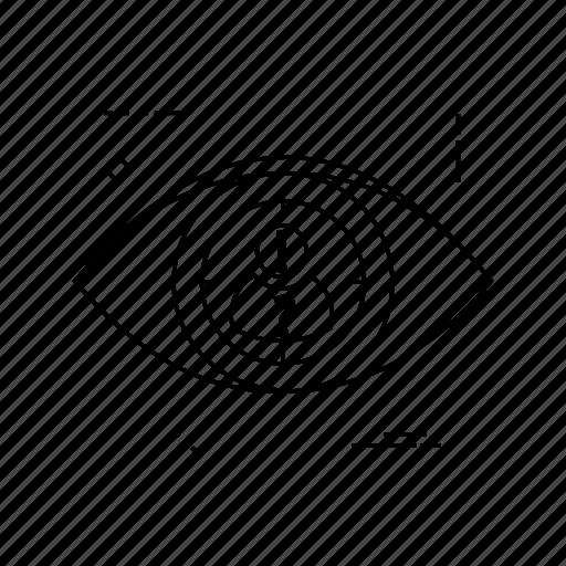 eye, target, user, view icon