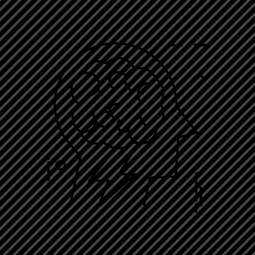 brain, head, mind, thinking icon