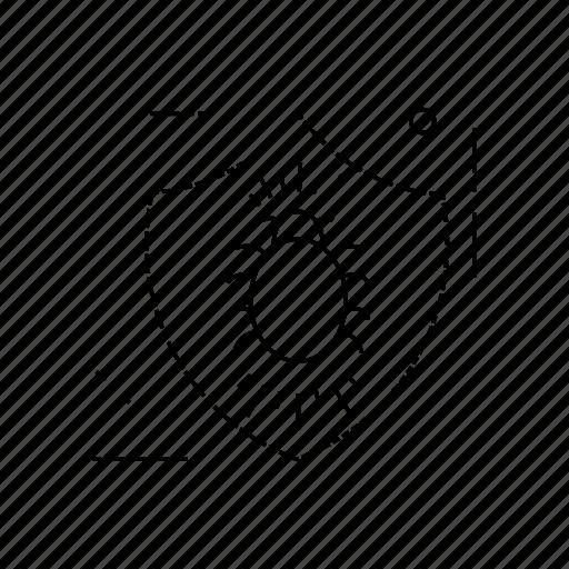 bug, lock, protection, shield icon