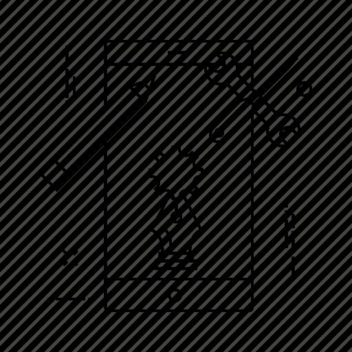 edit, illustration, mobile, repair icon