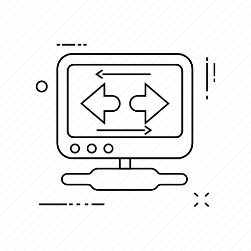arrows, display, monitor, screen icon