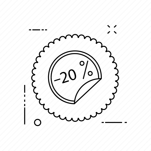 label, offer, sticker, tag icon