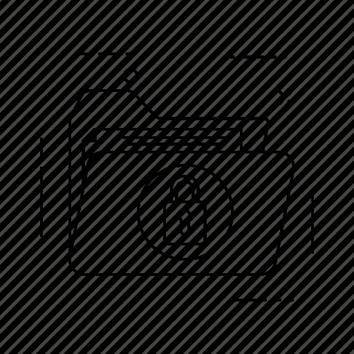 document, folder, lock, private icon