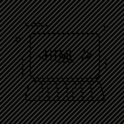 coding, device, programming, script icon