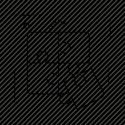 idea, maze, puzzle, solution icon