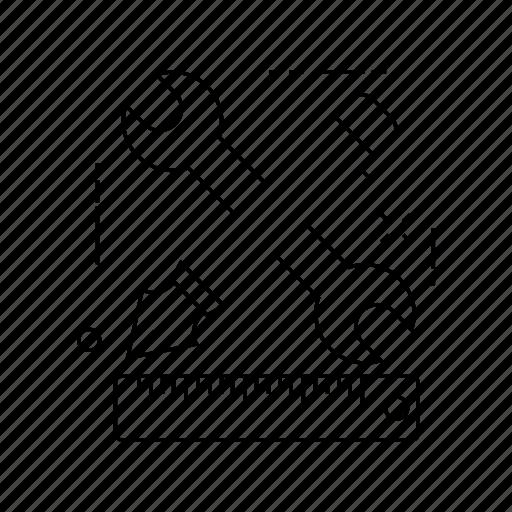 edit, repair, ruler, wrench icon