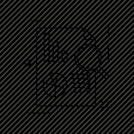 analysis, document, optimization, repoart icon