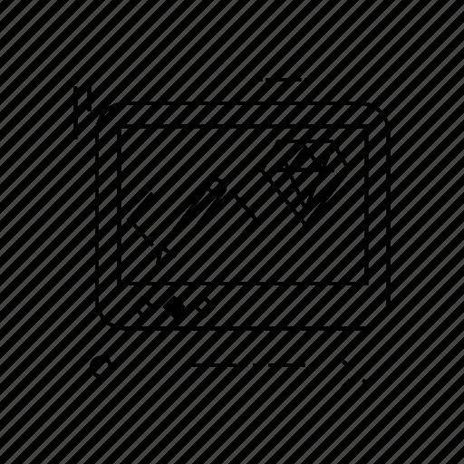 display, edit, lcd, screen icon