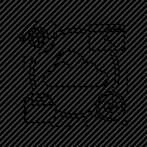 connection, network, server, storage icon