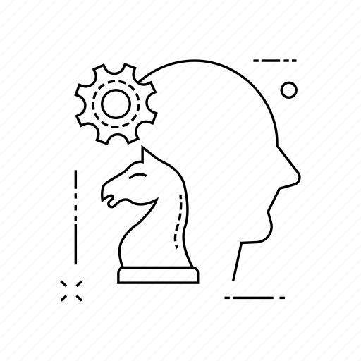chess, mind, planning, strategy icon
