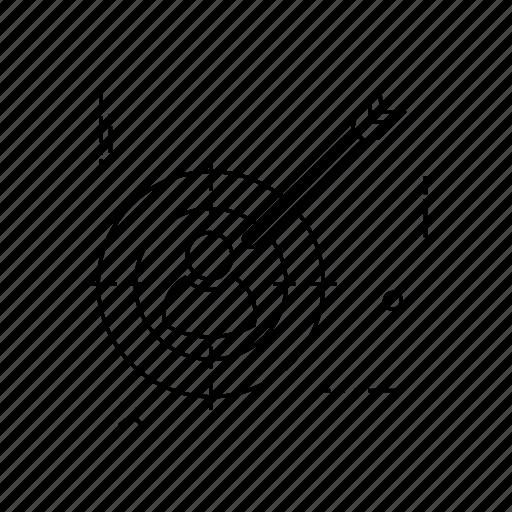 aim, dart, target, user icon