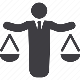 balance, businessman, choice, decision, ethics, fair, scales icon