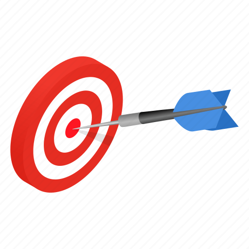 Achievement, aiming, arrow, dartboard, isometric, success, target icon - Download on Iconfinder