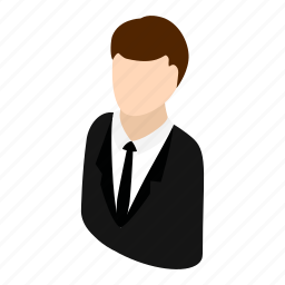 attractive, face, human, isometric, man, shirt, user icon