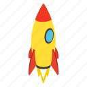 fly, isometric, rocket, ship, spaceship, startup, travel