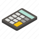isometric, business, calculator, number, computer, digital, technology