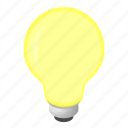 bulb, electricity, idea, isometric, light, lightbulb, power icon
