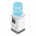 cold, cooler, drink, isometric, office, temperature, water