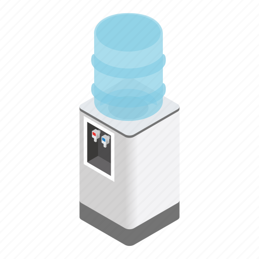 cold, cooler, drink, isometric, office, temperature, water icon
