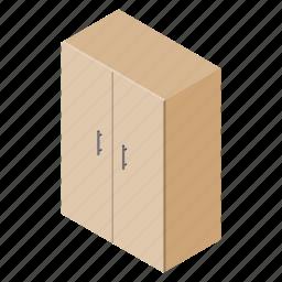 cupboard, decoration, file, floor, isometric, table, wardrobe icon