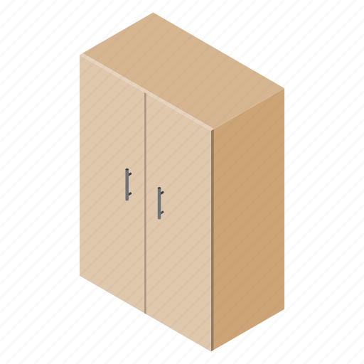 cupboard, decoration, file, floor, isometric, table, wardrobe icon