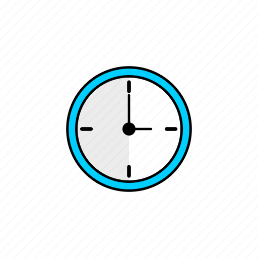 business, clock, hour, minute, second, three, time icon