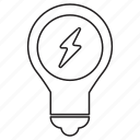 bulb, business, idea, information, target icon