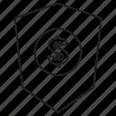 dollar, money, shwild icon