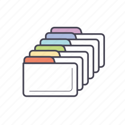 business, classification, document, extention, filling, folder, format icon