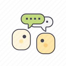 business, chatting, communication, meeting, message, online, talking icon
