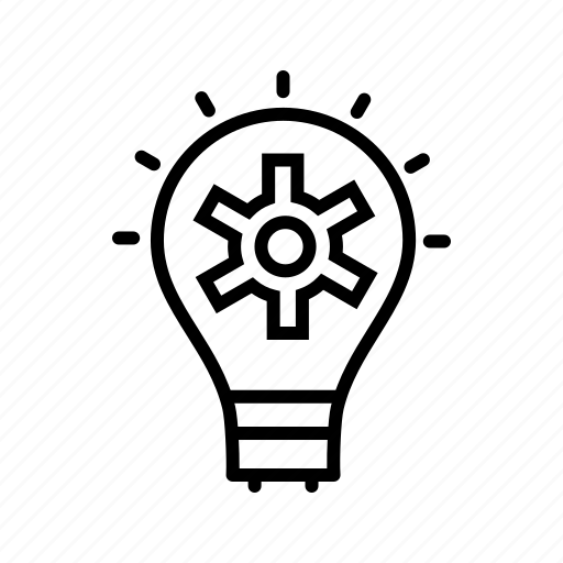 bulb, idea, plan, strategy icon