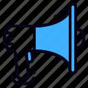 advertising, bullhorn, marketing, megaphone, promotion