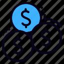 cash, coin, coins, dollar, investment, money