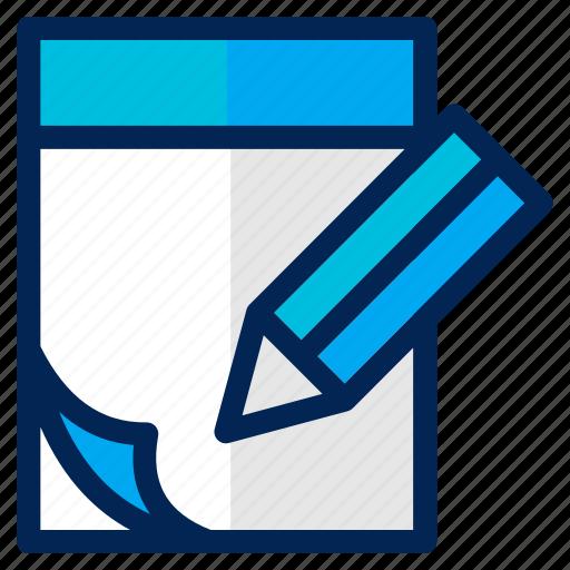 business, document, extension, list, management, note, paper icon