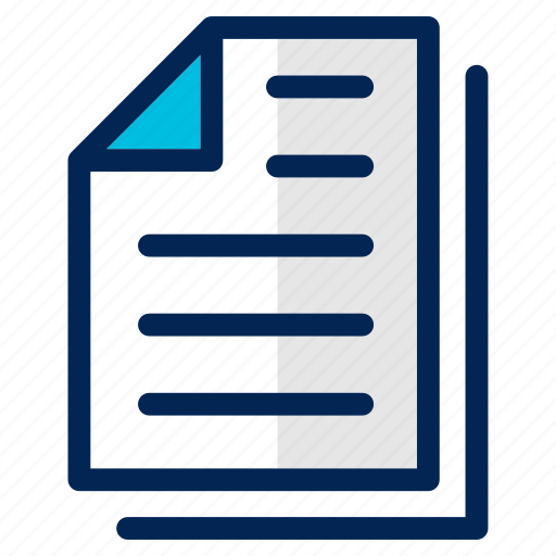 data, document, draft, files, list, note, text icon