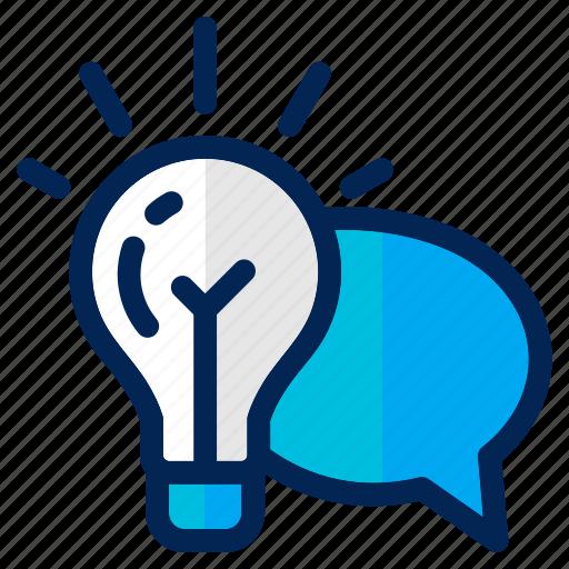 business, communication, creative, idea, lamp, light, management icon