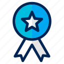 achievement, award, badge, business, management, medal, prize icon