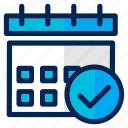 business, calendar, checklist, date, management, schedule, target icon