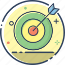 business, finance, line filled, marketing, money, target, target icon icon