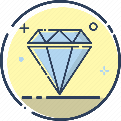 crystal, diamond, diamond icon, gem, jewel, jewelry, wealth icon