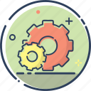 business, cogwheel, line filled, management, seo, setting, setting icon icon
