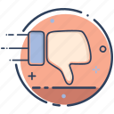 dislike, dislike icon, hand, like, thumbs down, unlike, vote icon