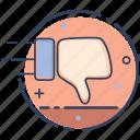 dislike, dislike icon, hand, like, thumbs down, unlike, vote