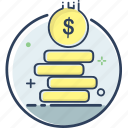 business, cash, coin, coin icon, finance, money, payment icon