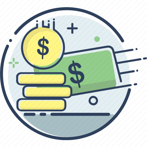 business, cash, fee, fee icon, finance, money, payment icon