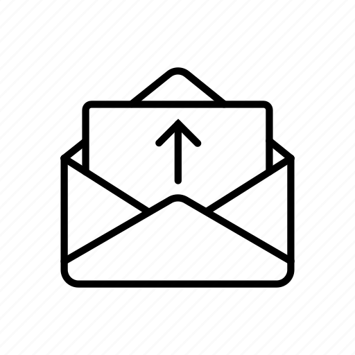 electronic mail, email, mail, messaging, post, postal mail icon