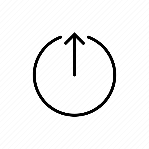 arrow, down, forward, over, round, under, upload icon